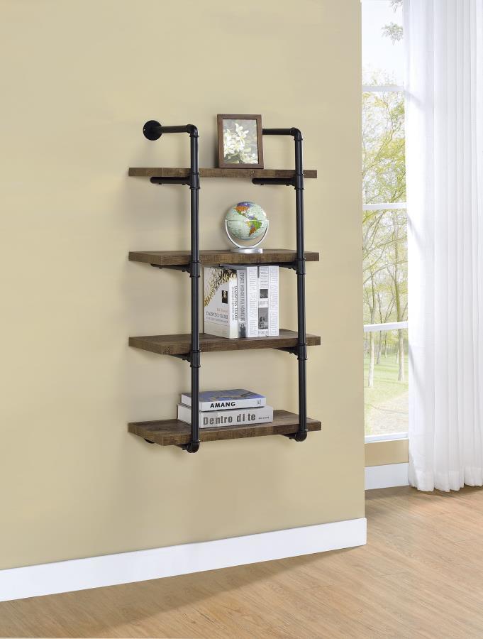 Rustic Oak 24 Inch Wall Shelf