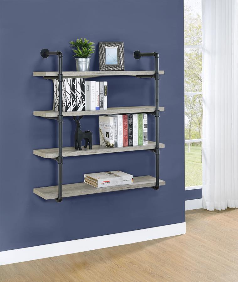 Grey Driftwood 40 Inch Wall Shelf
