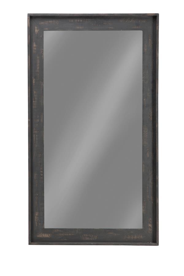 Distressed Grey 47 Inch Floor Mirror