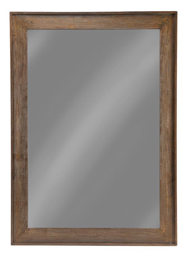 Distressed Brown 59 Inch Floor Mirror