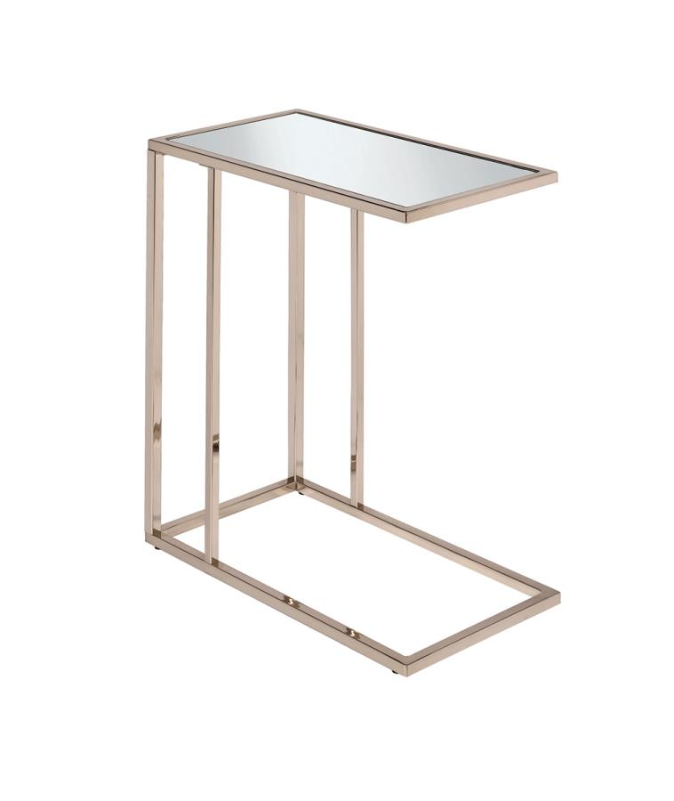 Mirror Top Accent Table Angle