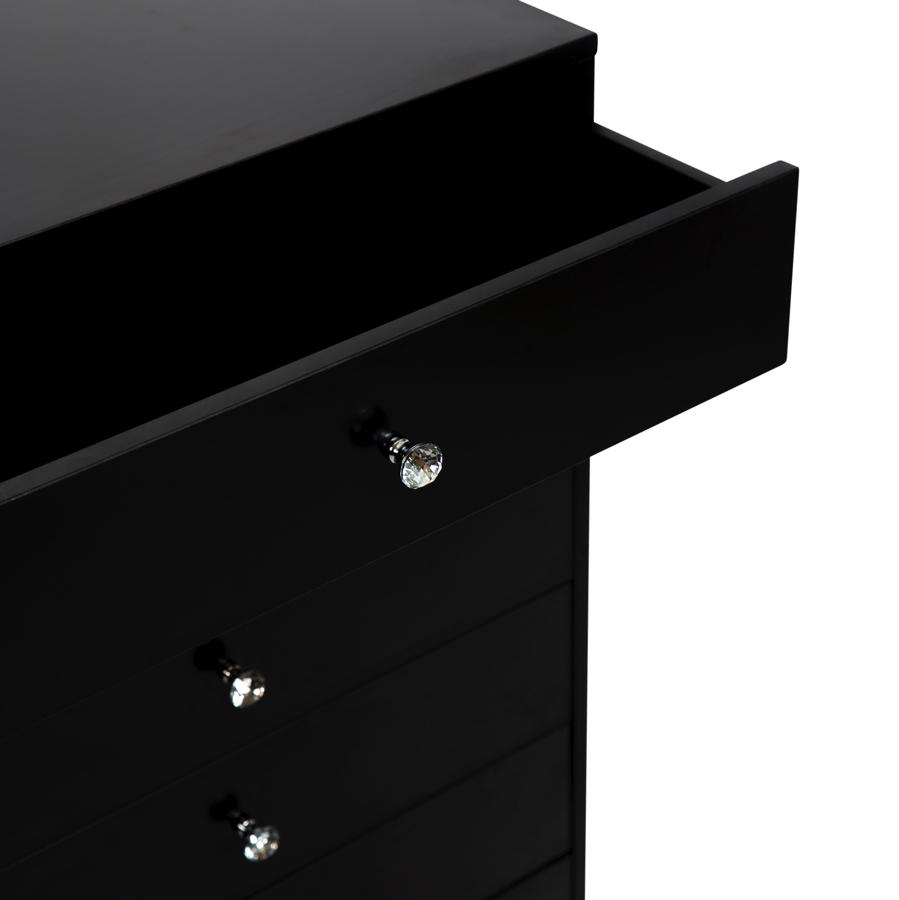 Pro Black 6-Drawer Chest w/ Drawers Opened