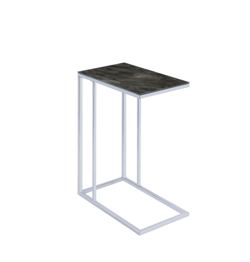Black Marble Accent Table Angle