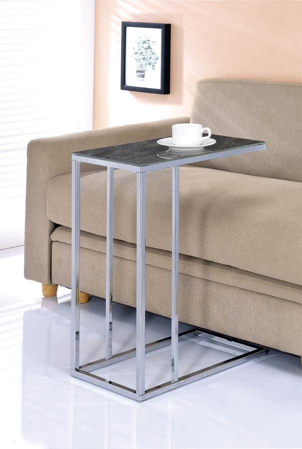 Black Marble Accent Table