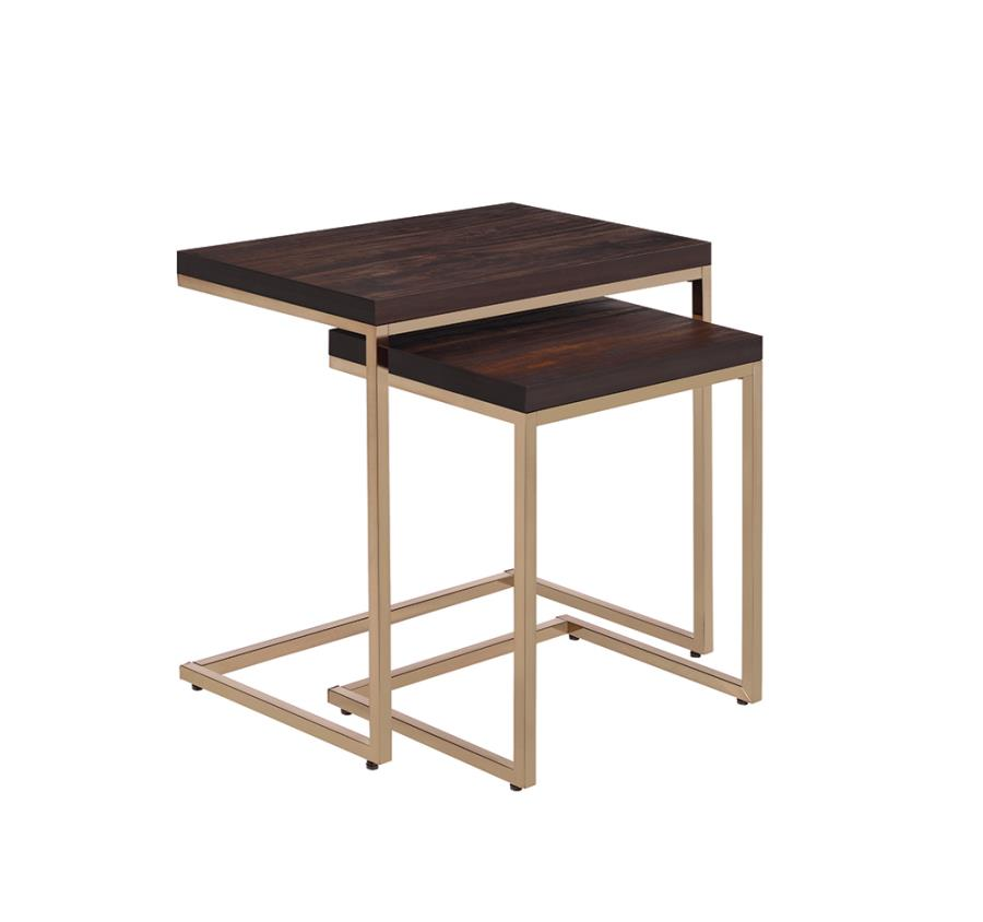 Two Piece End Table Set Angle
