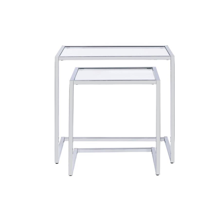 Two Piece End Table Set Front