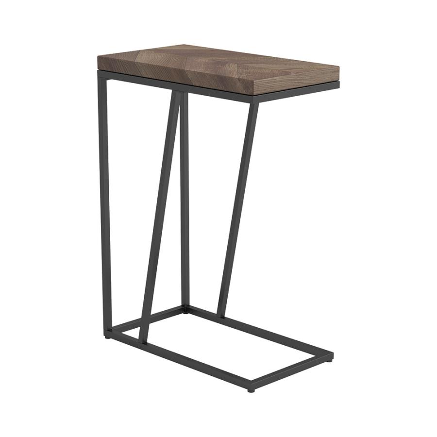 Tobacco Accent Table Angle