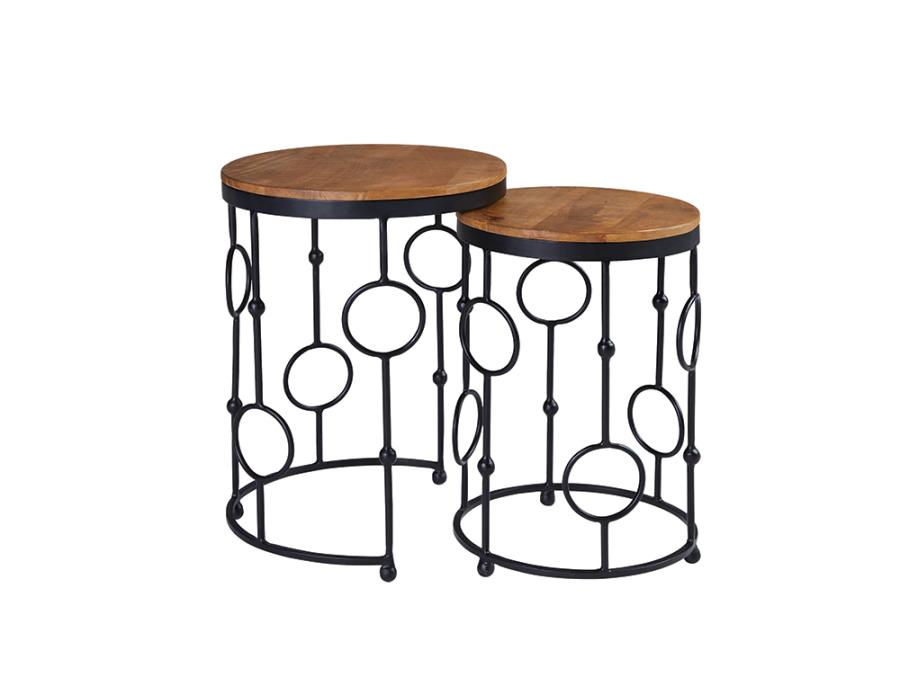 Two Piece End Table Set Side