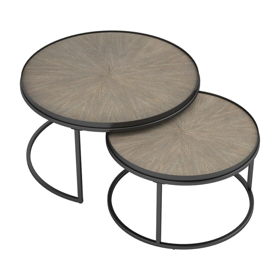Two Piece End Table Set Together