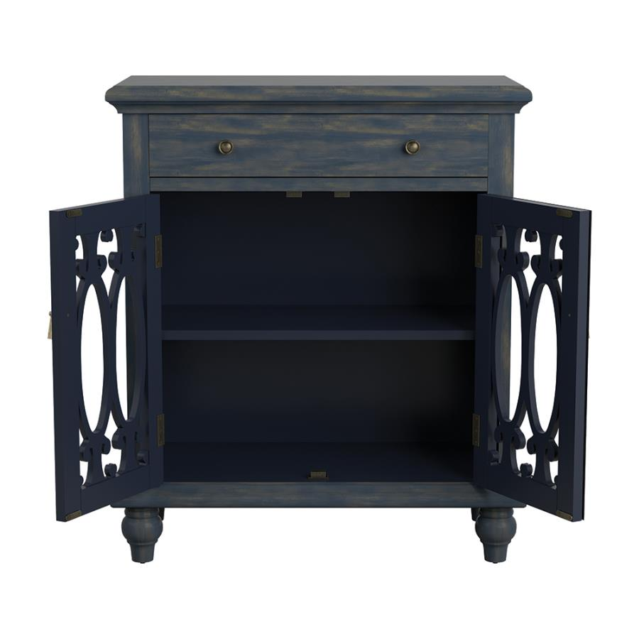 Accent Cabinet with Storage Drawers Open