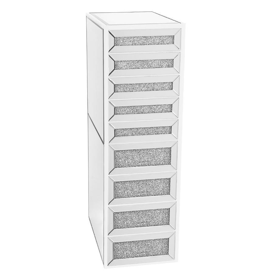 White 9-Drawer Vanity Storage Unit