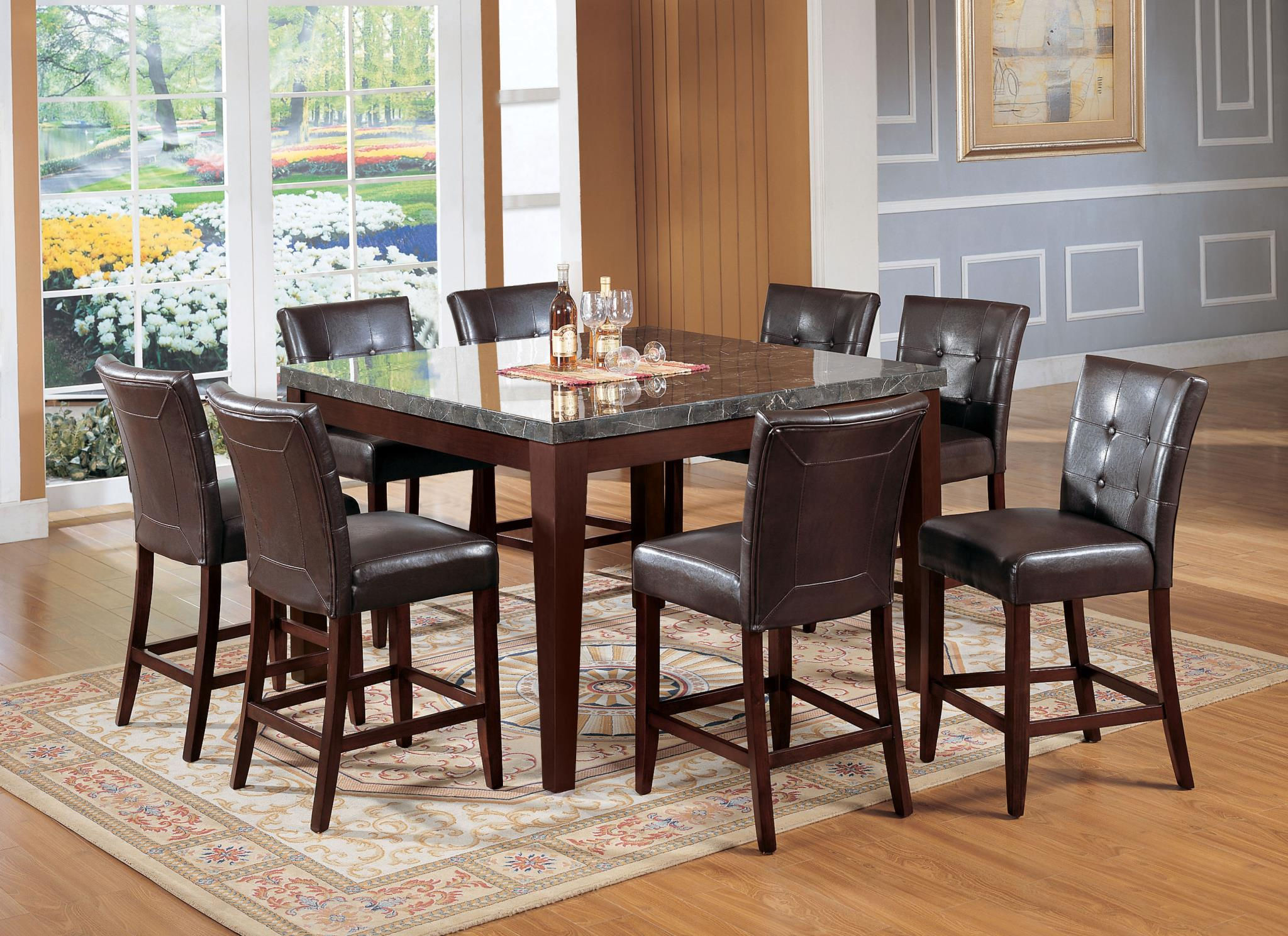 Complete Counter Height Dining Table Set