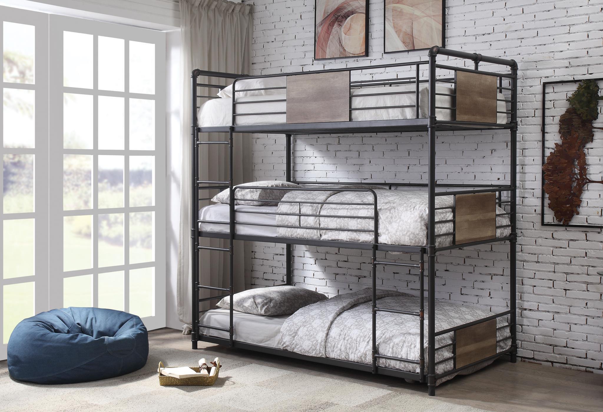 Triple Twin Bunk Bed
