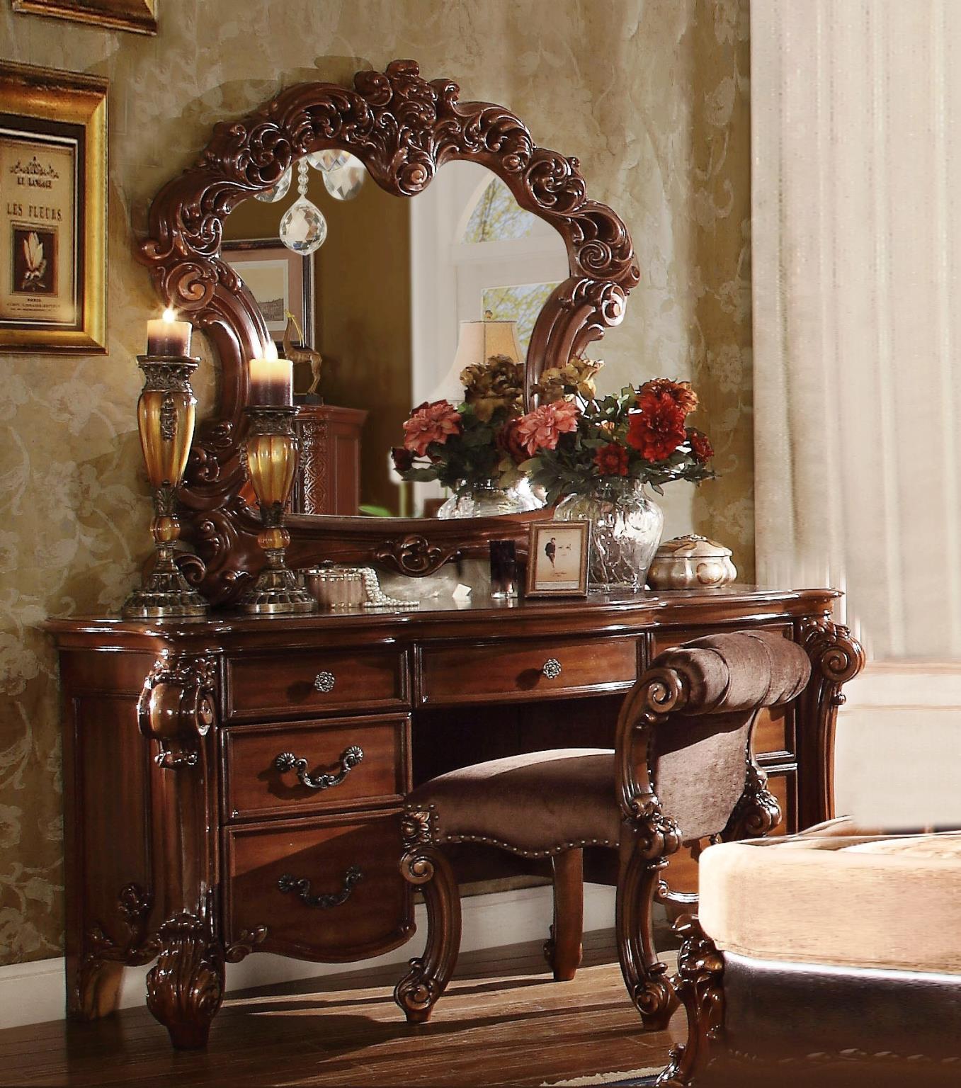Cherry Vanity Desk