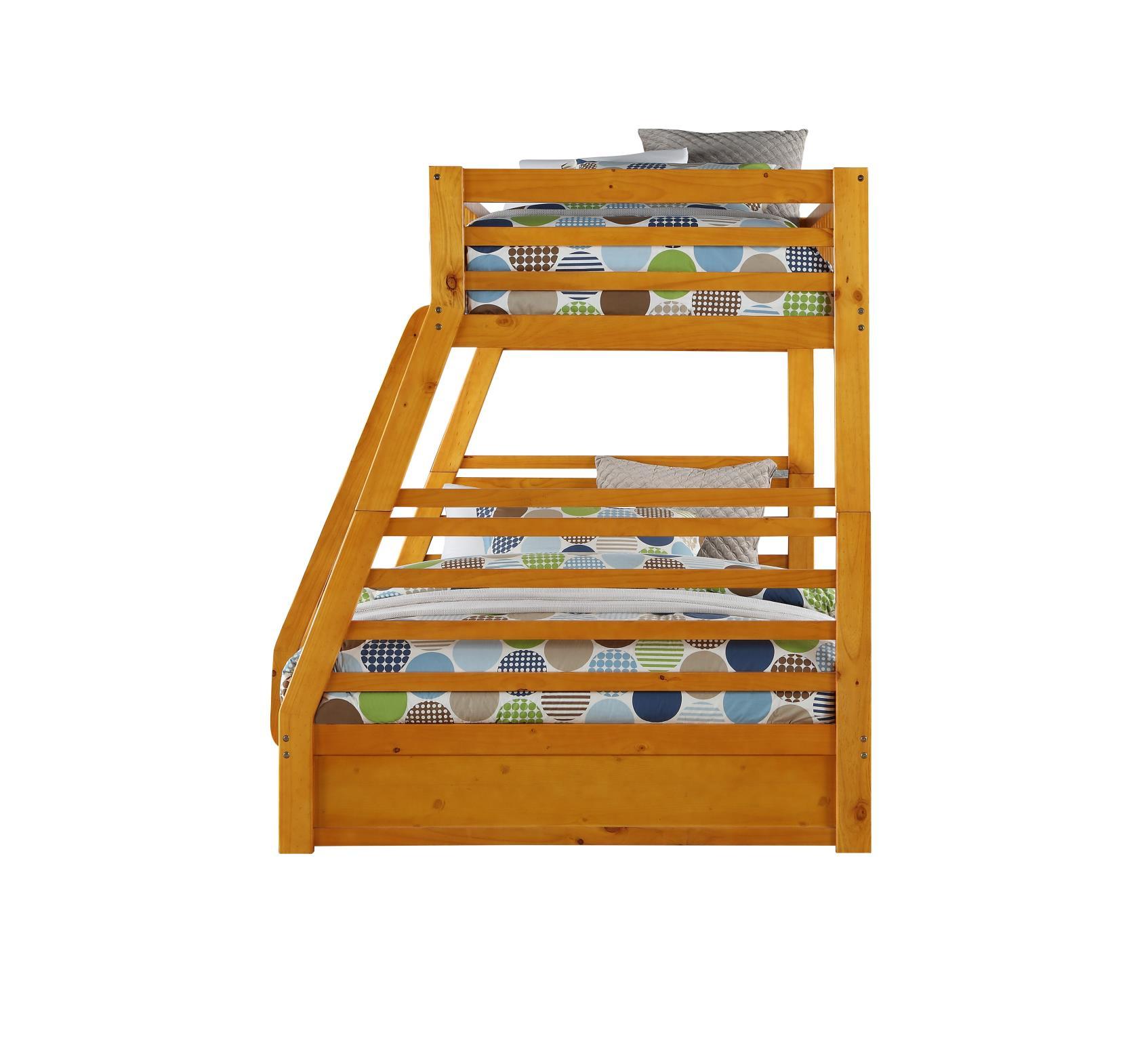 Honey Oak Twin/Full Bunk Bed Side