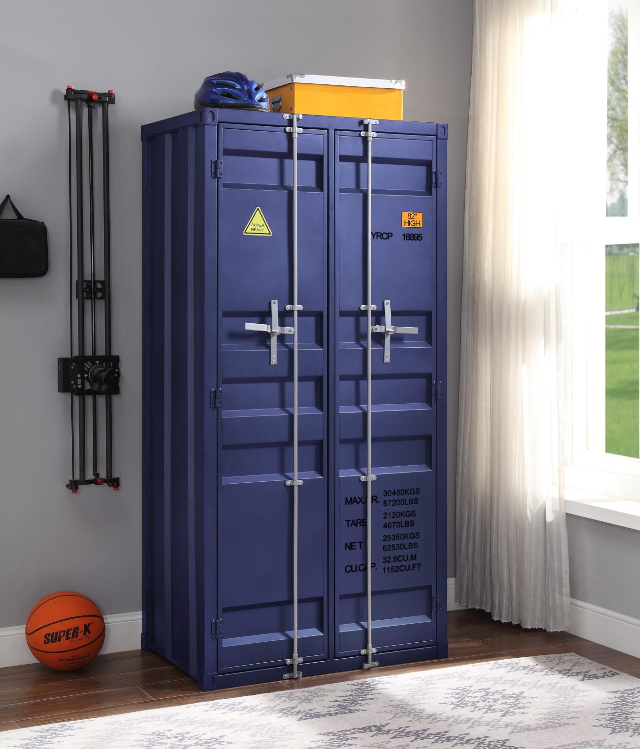Blue Double Door Wardrobe