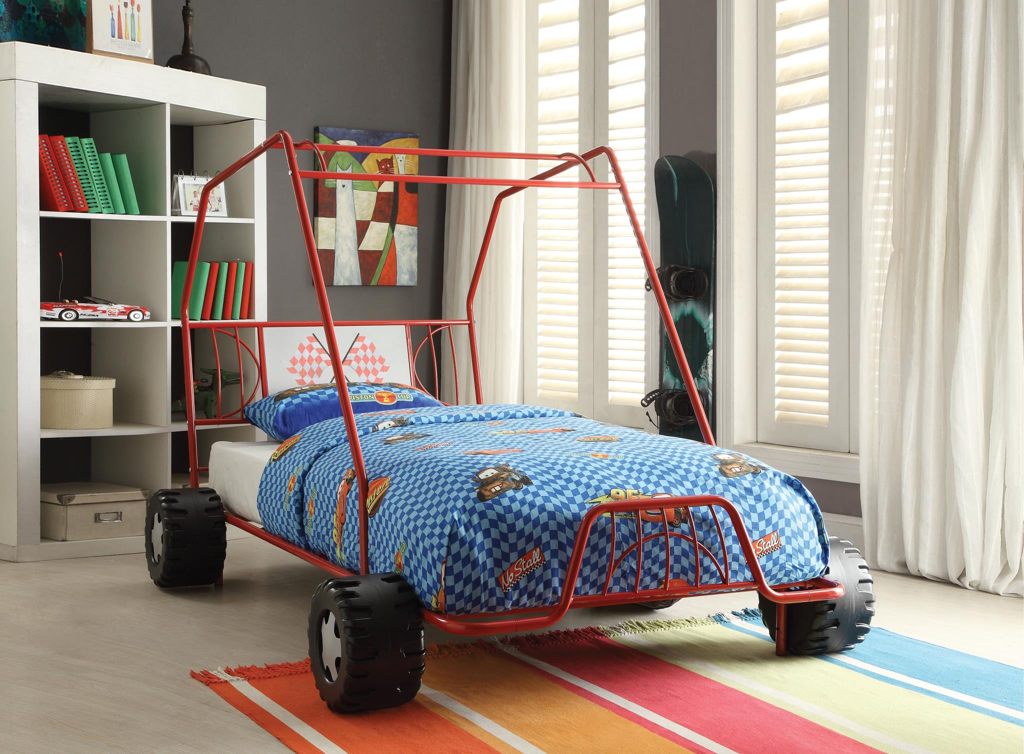 Red Go Kart Themed Bed