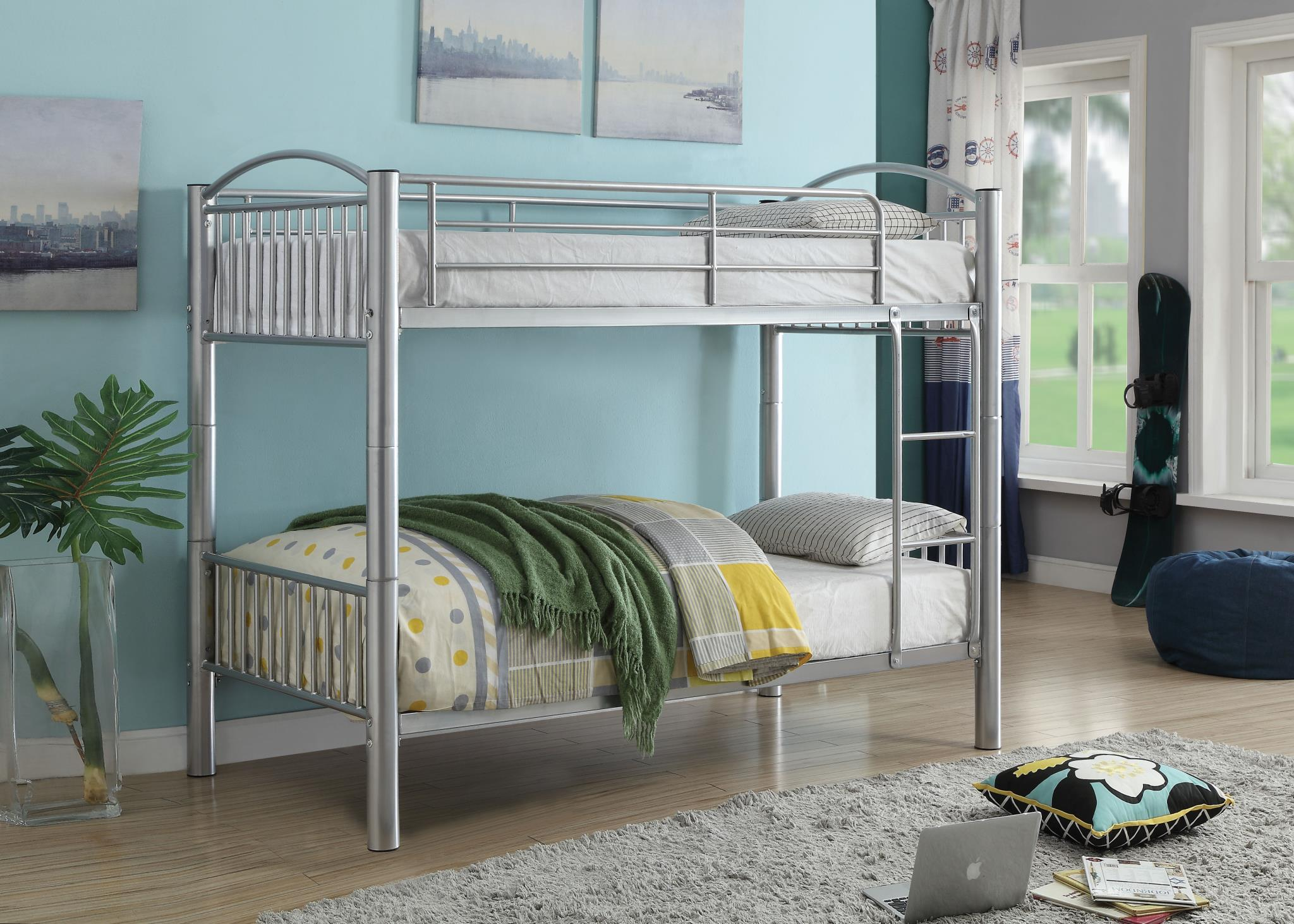 Silver Twin/Twin Bunk Bed