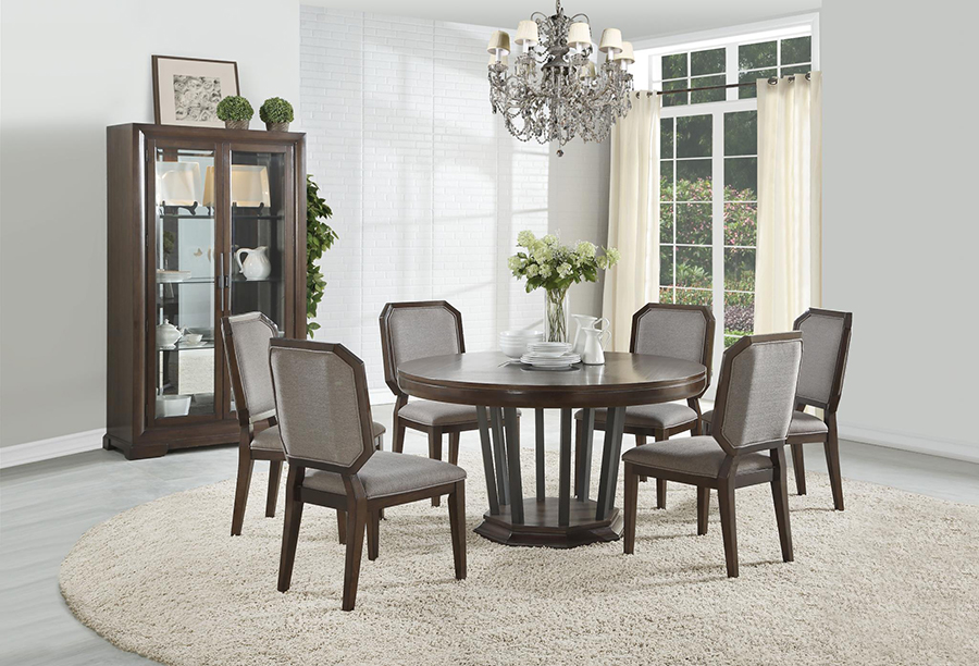 Complete Round Dining Table Set