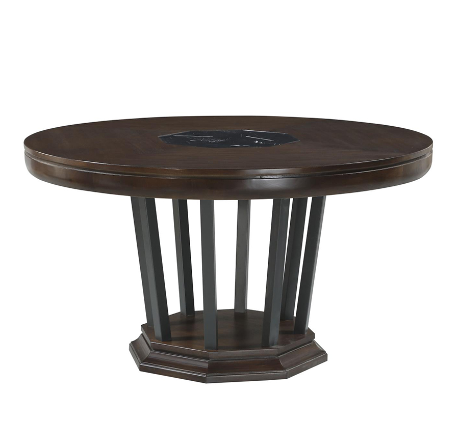 Round Dining Table w/ Open Pedestal