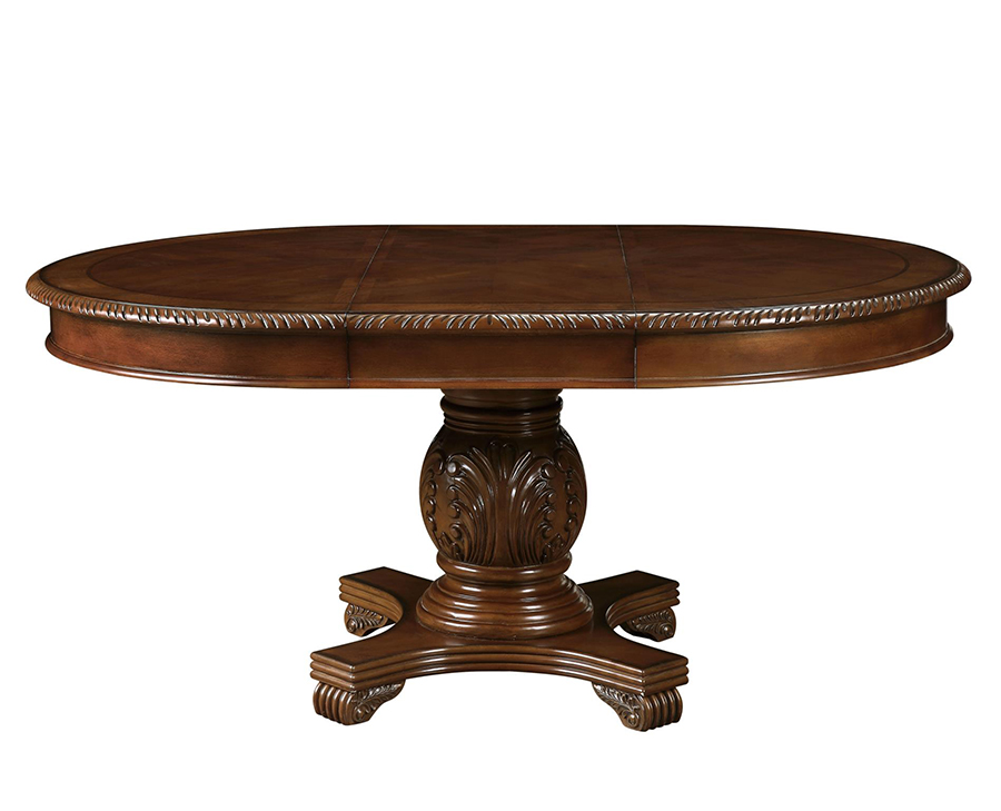 Dining Table w/ Extension Leaf Side View