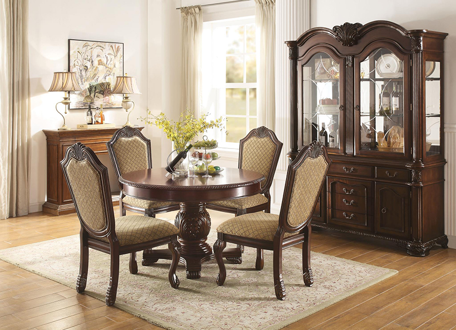 Complete Dining Table Set w/o Extension Leaf
