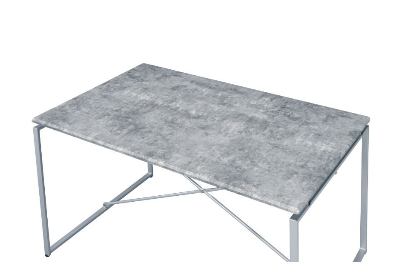 Faux Concrete and Silver Table