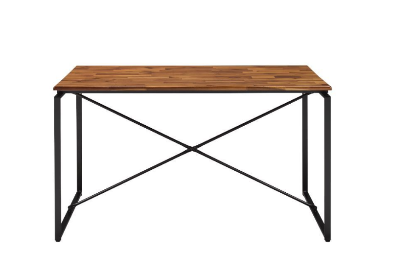 Oak and Black Table