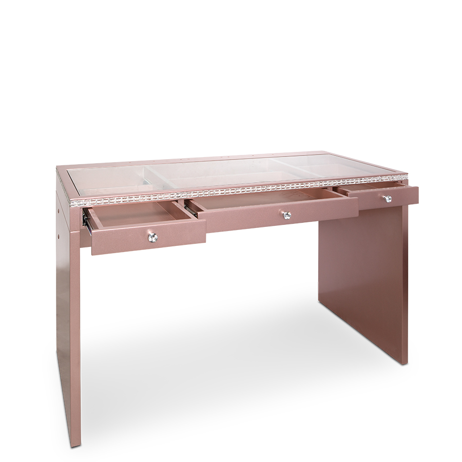 SlayStation® Plus Premium Lux Table in Rose Gold