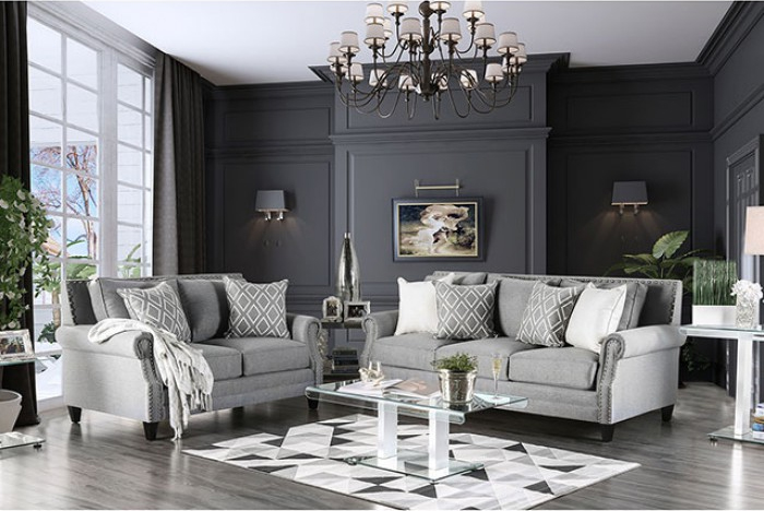 Complete Gray Sofa Set