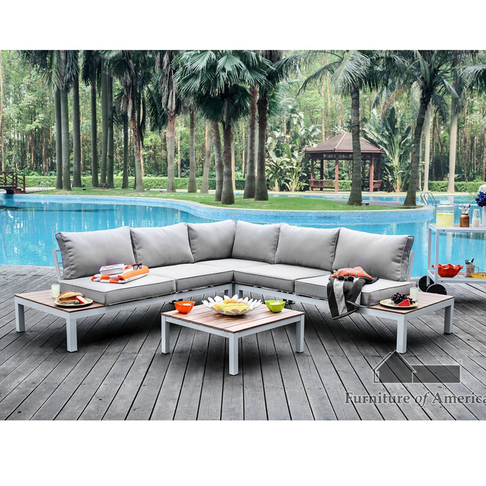 Complete Patio Sectional Sofa Set