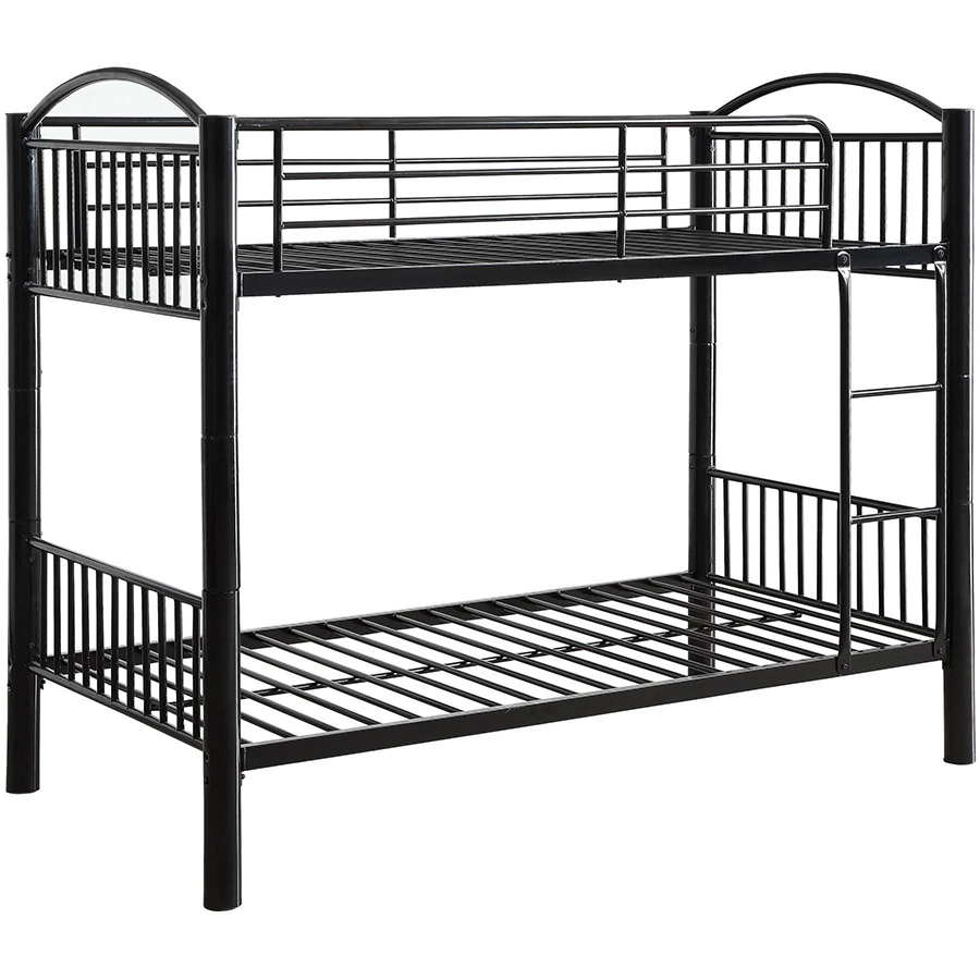 Black Twin/Twin Bunk Bed Frame