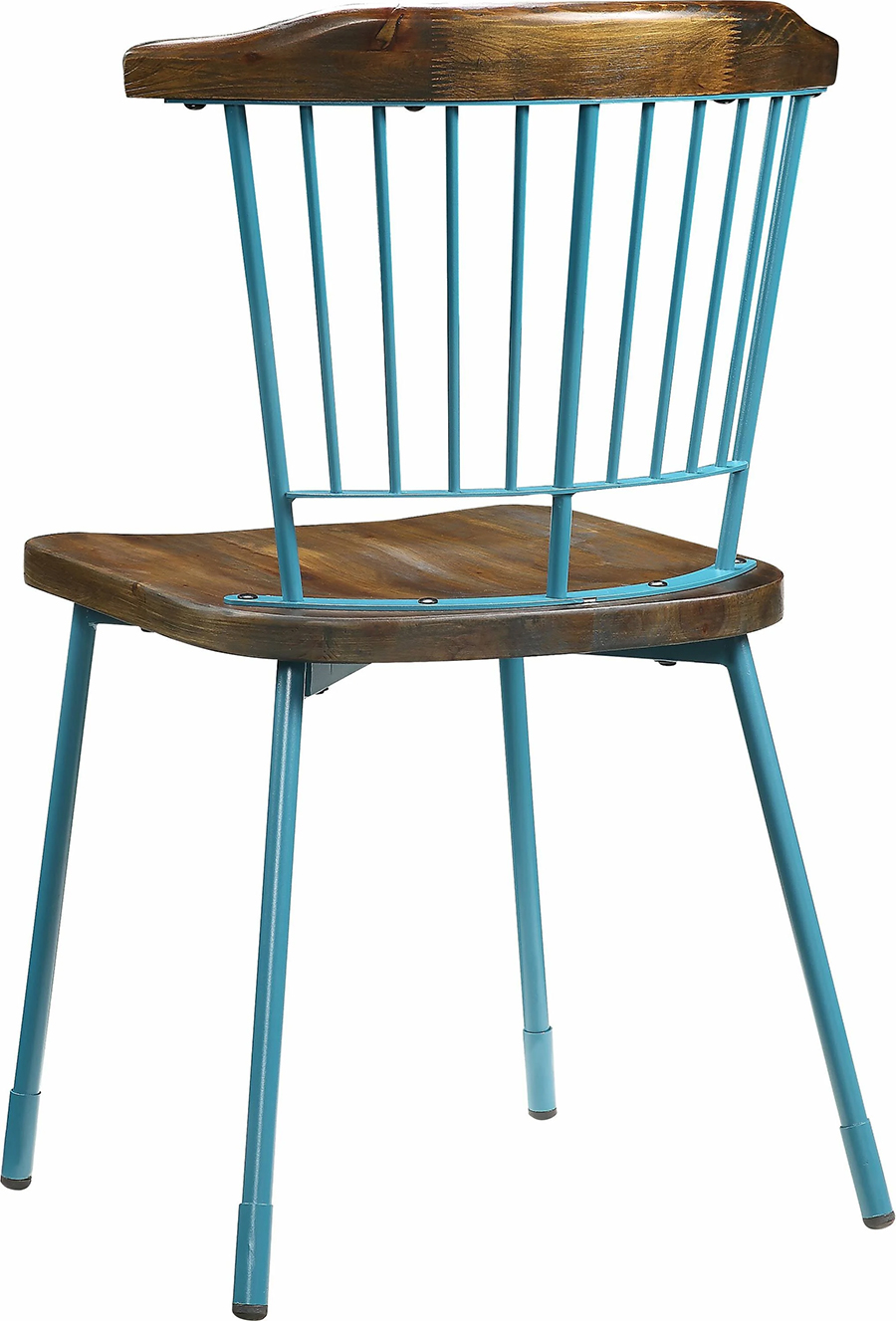 Teal & Brown Oak Chair Back