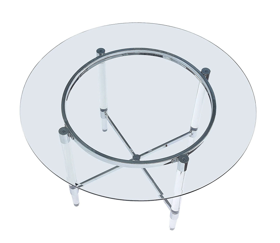 Dining Table Clear Glass Top