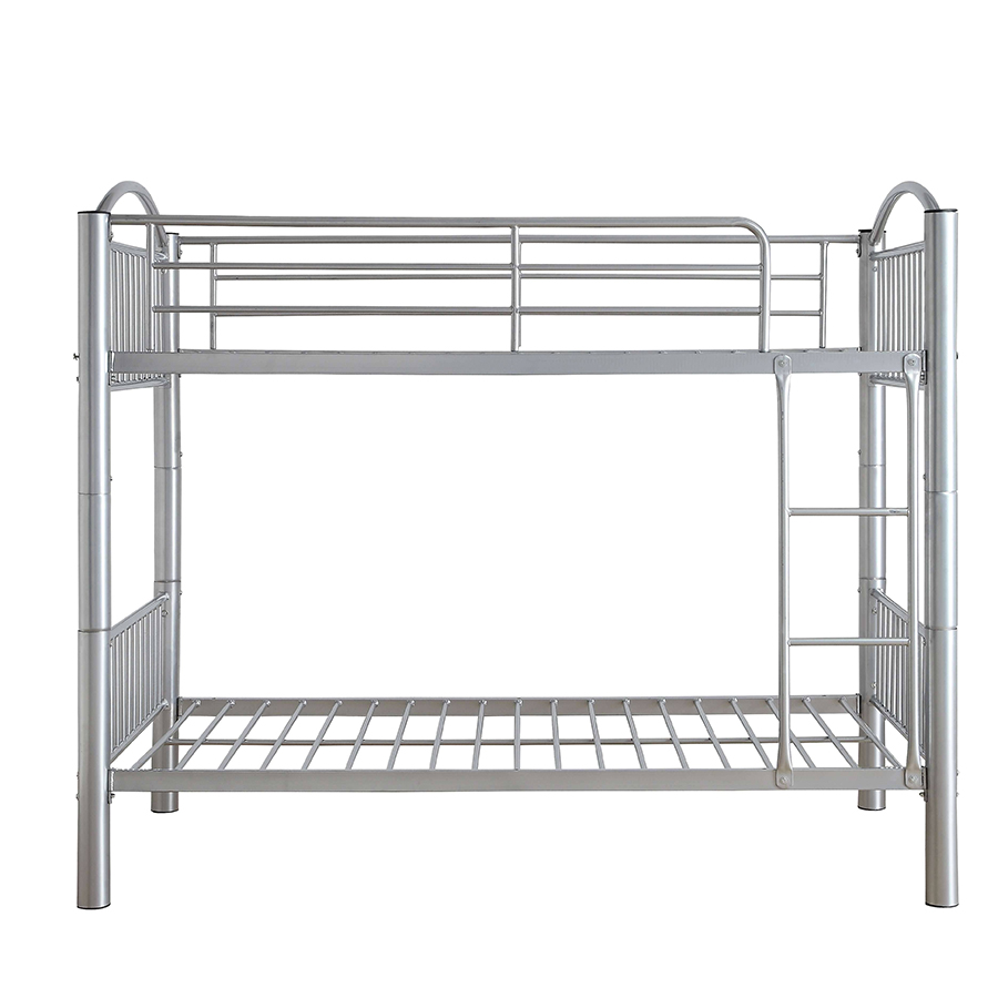 Silver Twin/Twin Bunk Bed Frame