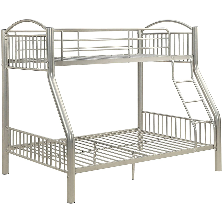Silver Twin/Full Bunk Bed Frame