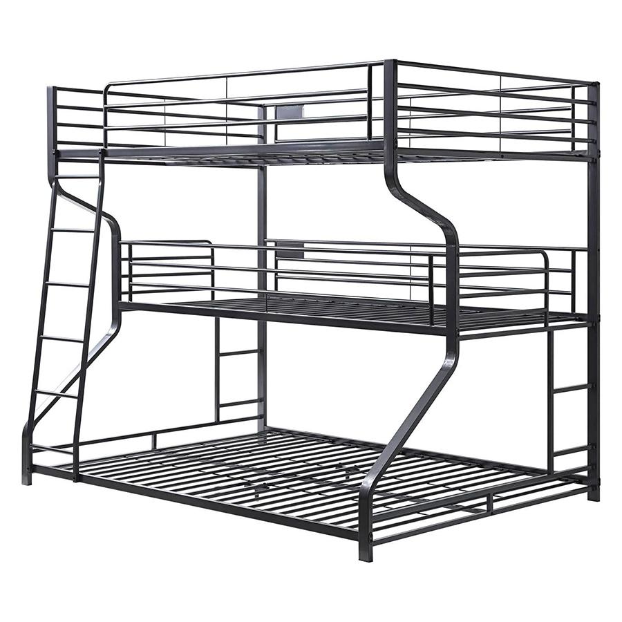 Gunmetal Triple Bunk Bed Frame