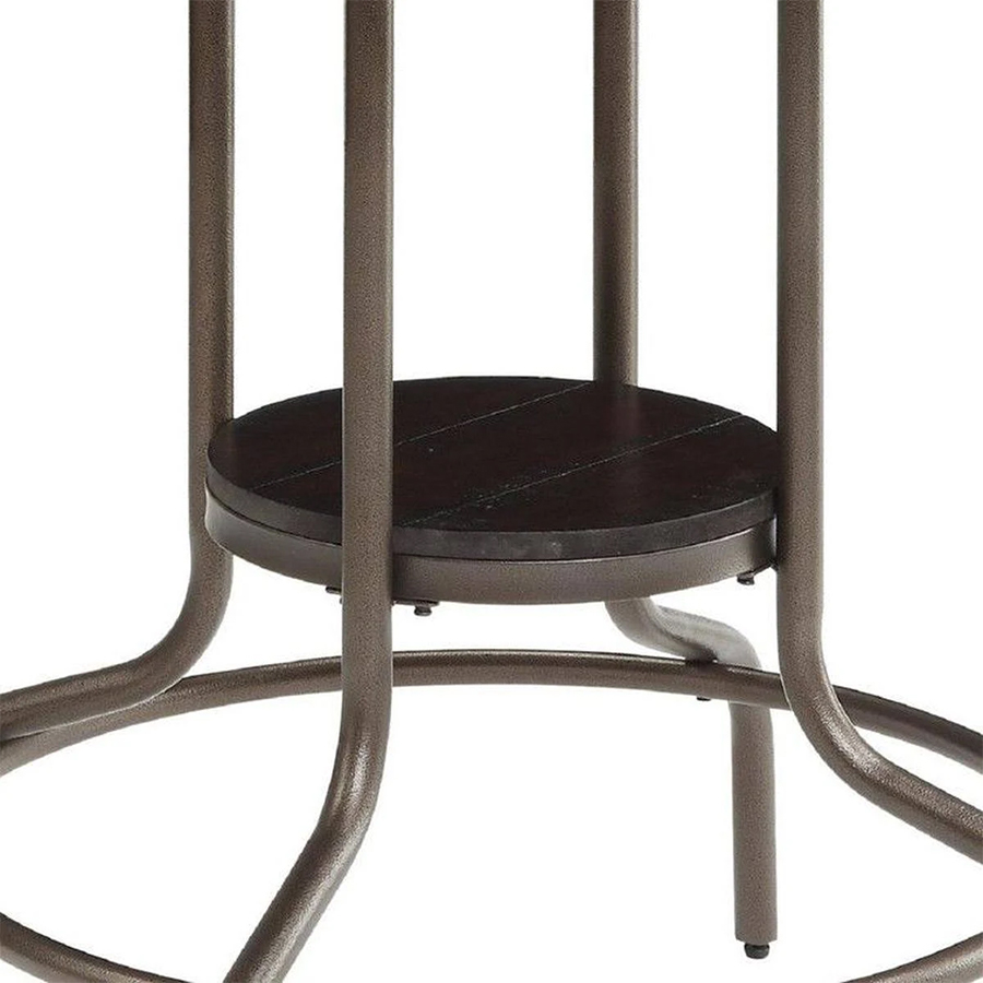 Dining Table Mini Shelf and Foot Rest Details