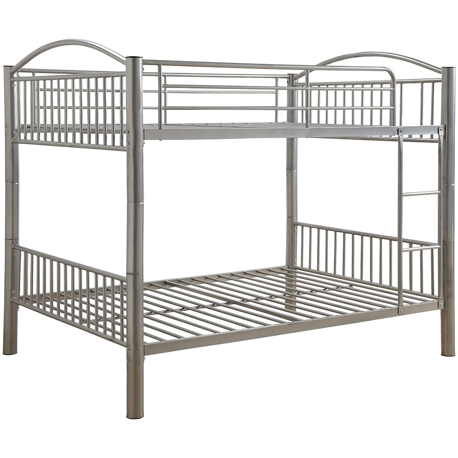 Silver Full/Full Bunk Bed Frame