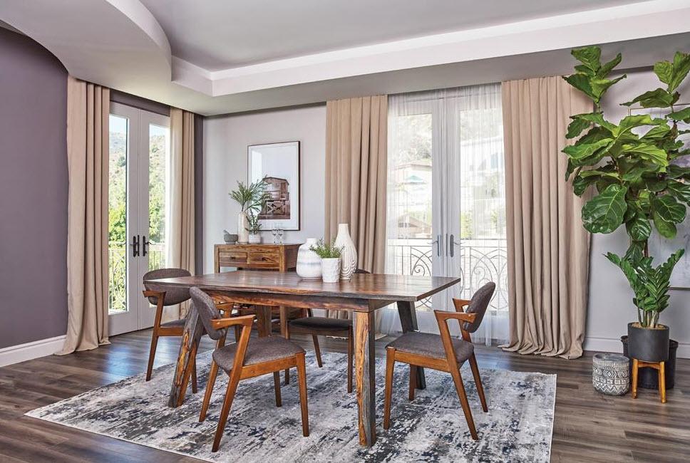 Complete Set W/Grey & Walnut Chairs