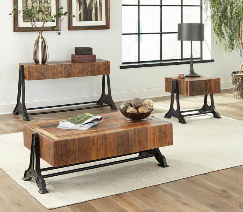 Coffee Table W/Sofa Table & End Table
