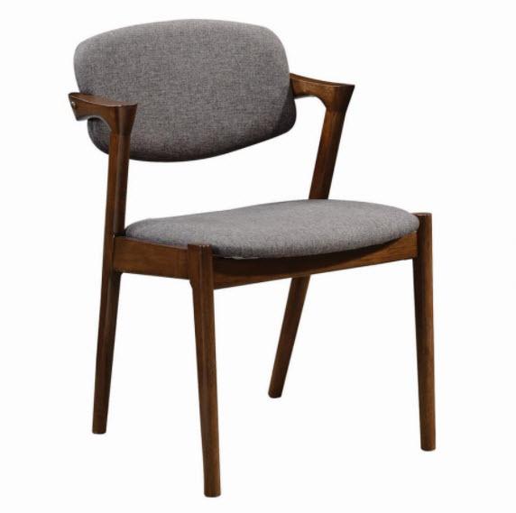 Grey & Dark Walnut Chair