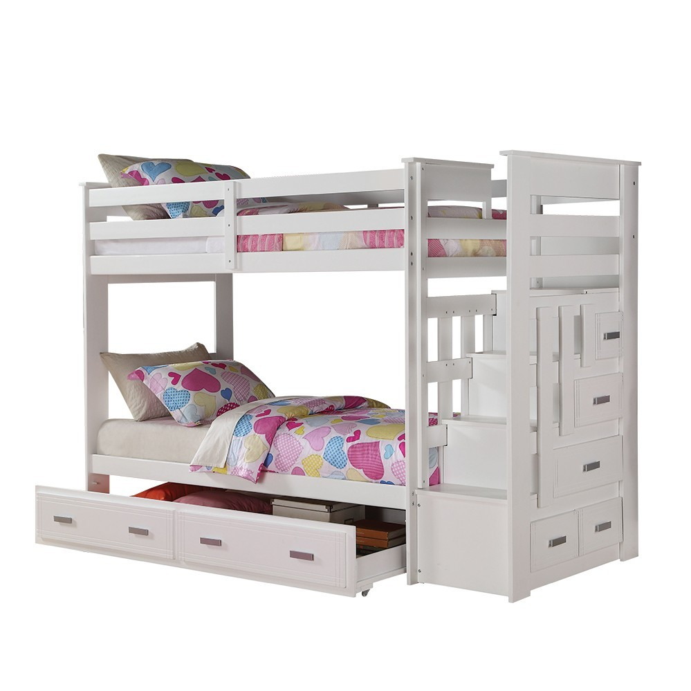 Bunk Bed with Storage Ladder