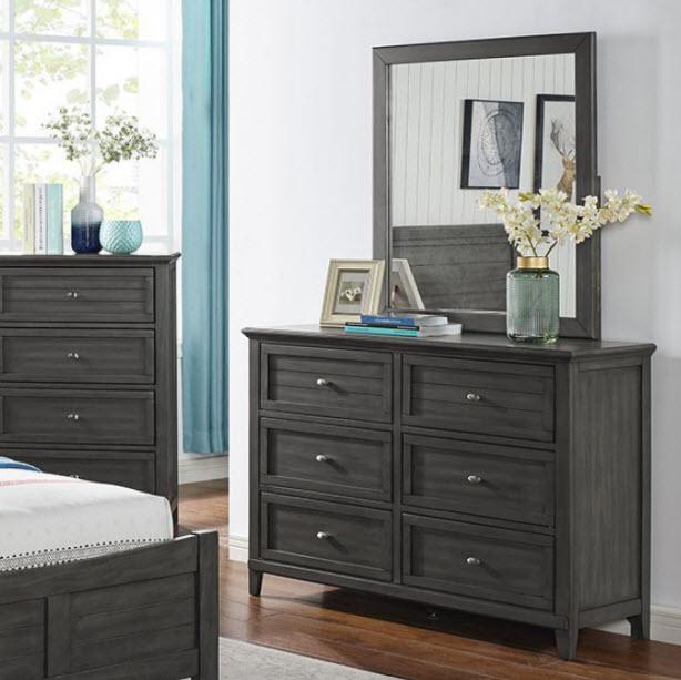 Charcoal Dresser W/Mirror