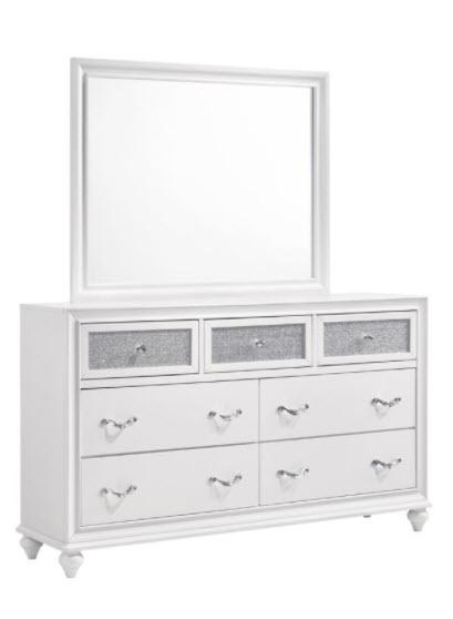 Dresser W/Mirror White