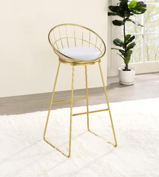 Matte Brass Chair