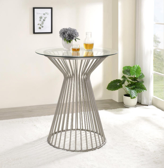 Satin Nickel Table