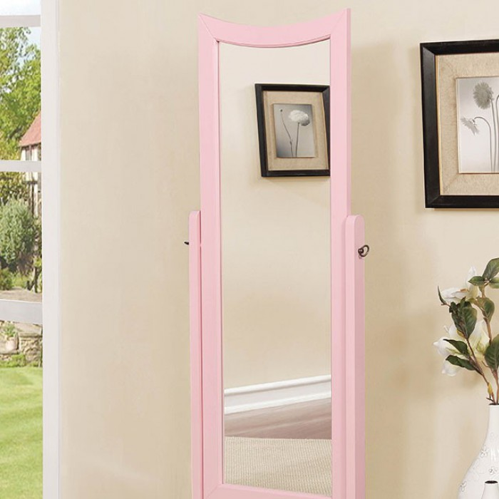 Pink Standing Mirror Close Up