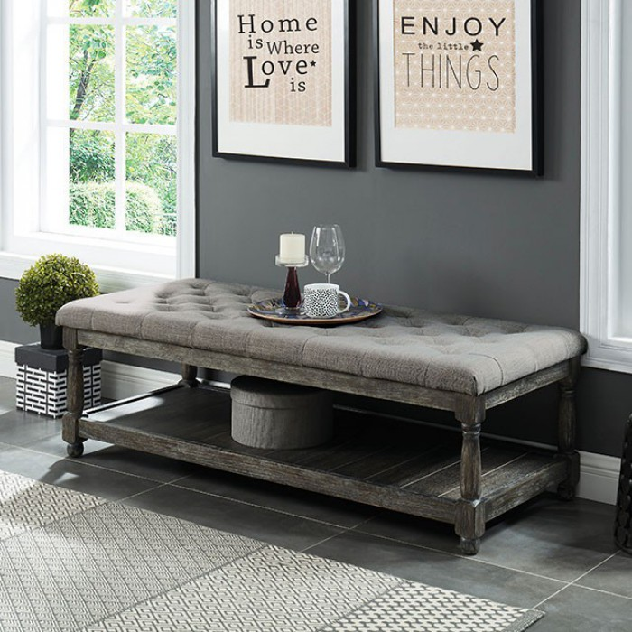 Gray Bench