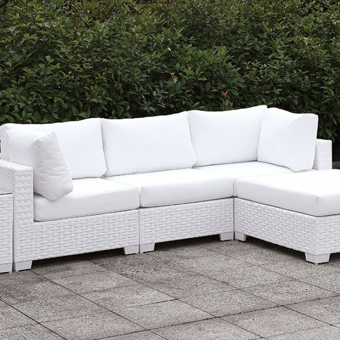 Patio L-Sectional Sofa Set w/ Right Chaise Close Up